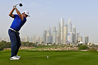 Mikko Korhonen (FIN) on the 8th tee during Round 1 of the Omega Dubai Desert Classic, Emirates Golf Club, Dubai,  United Arab Emirates. 24/01/2019<br /> Picture: Golffile | Thos Caffrey<br /> <br /> <br /> All photo usage must carry mandatory copyright credit (&copy; Golffile | Thos Caffrey)