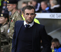 Luton Town manager Nathan Jones watches on before the Sky Bet League 2 match between Notts County and Luton Town at Meadow Lane, Nottingham, England on 29 October 2016. Photo by Liam Smith / PRiME Media