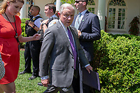 Attorney General Jeffrey Sessions exits the Rose Garden after a National Day of Prayer event in the at the White House in Washington, DC on May 3, 2018. Credit: Alex Edelman / CNP /MediaPunch