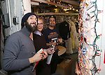 Josh Groban, Cate Blanchett and Lin-Manuel Miranda during the cast of 'Hamilton' 2016 Door Decorating Competition at Richard Rodgers Theatre on December 23, 2016 in New York City.