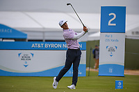 Thorbjorn Olesen (DEN) watches his tee shot on 2 during round 2 of the AT&T Byron Nelson, Trinity Forest Golf Club, Dallas, Texas, USA. 5/10/2019.<br /> Picture: Golffile | Ken Murray<br /> <br /> <br /> All photo usage must carry mandatory copyright credit (© Golffile | Ken Murray)