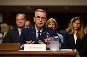 Air Force General John Hyten, who is nominated to become Vice Chairman Of The Joint Chiefs Of Staff, testifies before the U.S. Senate Committee on Armed Services during his confirmation hearing on Capitol Hill in Washington D.C., U.S. on July 30, 2019. <br /> <br /> Credit: Stefani Reynolds / CNP