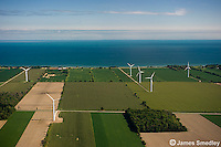 Wind turbine farm in Northern Ontario
