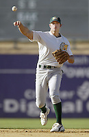 May 6, 2002: Bobby Crosby of the Modesto A's in action against the San Bernardino Stampede at Arrowhead Credit Union Park in San Bernardino,CA.  Photo by Larry Goren/Four Seam Images