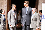 King Felipe VI of Spain delivered the &quot;Camino Real&quot; award to NBA spanish basketball player Pau Gasol at Alcala de Henares University in Madrid, July 15. 2015.<br />  (ALTERPHOTOS/BorjaB.Hojas)