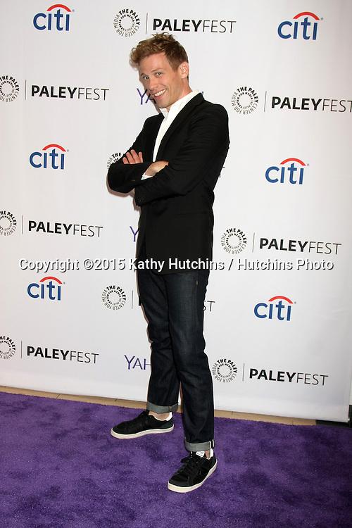 LOS ANGELES - SEP 11:  Barrett Foa at the PaleyFest 2015 Fall TV Preview - NCIS: Los Angeles at the Paley Center For Media on September 11, 2015 in Beverly Hills, CA