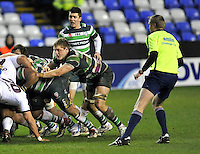 READING, ENGLAND :  Jack Winter-Moates of London Irish directs the scrum during the Amlin Challenge Cup match between London Irish and Bordeaux-Begles at Madejski Stadium on January 18, 2013 in Reading, England.