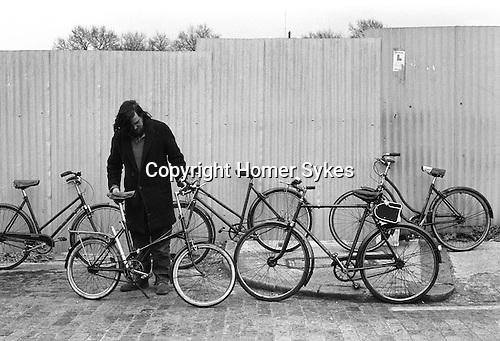 Chilton Street market Whitechapel, East London E2 , bike market near Brick Lane, England 1974