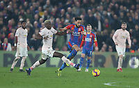 Crystal Palace's Andros Townsend and Manchester United's Paul Pogba<br /> <br /> Photographer Rob Newell/CameraSport<br /> <br /> The Premier League - Wednesday 27th February 2019  - Crystal Palace v Manchester United - Selhurst Park - London<br /> <br /> World Copyright © 2019 CameraSport. All rights reserved. 43 Linden Ave. Countesthorpe. Leicester. England. LE8 5PG - Tel: +44 (0) 116 277 4147 - admin@camerasport.com - www.camerasport.com
