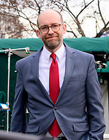 Acting Director of the Office of Management and Budget (OMB) Russ Vought smiles as he walks past the media on the North Driveway of the White House in Washington, DC after doing a network interview on Monday, March 11, 2019. Photo Credit: Ron Sachs/CNP/AdMedia