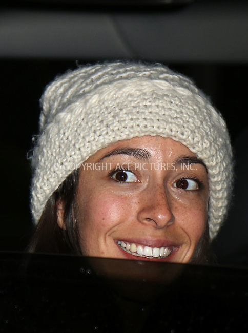 WWW.ACEPIXS.COM<br /> <br /> March 31 2015, New York City<br /> <br /> Oona Chaplin peeps out from a car in Soho on March 31 2015 in New York City<br /> <br /> By Line: Philip Vaughan/ACE Pictures<br /> <br /> <br /> ACE Pictures, Inc.<br /> tel: 646 769 0430<br /> Email: info@acepixs.com<br /> www.acepixs.com
