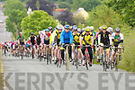The cyclist leaving Currow village at the Currow CC fun cycle on Sunday ..
