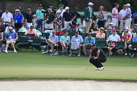 Shane Lowry (IRL) on the 2nd green during the 2nd round at the The Masters , Augusta National, Augusta, Georgia, USA. 12/04/2019.<br /> Picture Fran Caffrey / Golffile.ie<br /> <br /> All photo usage must carry mandatory copyright credit (© Golffile | Fran Caffrey)