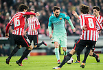 Lionel Andres Messi of FC Barcelona in action during their Copa del Rey Round of 16 first leg match between Athletic Club and FC Barcelona at San Mames Stadium on 05 January 2017 in Bilbao, Spain. Photo by Victor Fraile / Power Sport Images