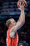 Valencia Basket's Luke Sikma during 2017 King's Cup match between Real Madrid and Valencia Basket at Fernando Buesa Arena in Vitoria, Spain. February 19, 2017. (ALTERPHOTOS/BorjaB.Hojas)