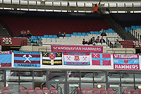Scandinavian West Ham Fans Banner during West Ham United vs Everton, Premier League Football at The London Stadium on 13th May 2018