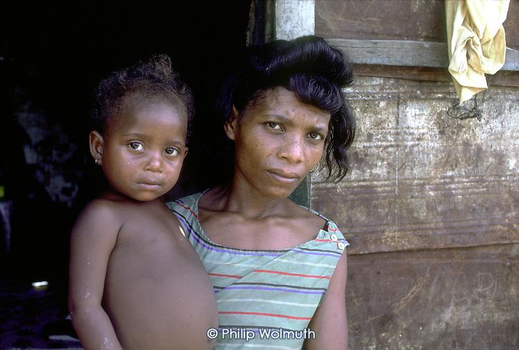 A resident of the La Cienega district of Santo Domingo