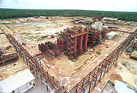 Construção da fábrica de alumina da Alunorte em Barcarena.<br />Barcarena, Pará, Brasil<br />Foto Paulo Santos/Interfoto Implantação da refinaria da Alunorte