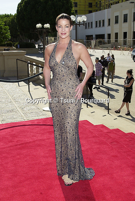 Claudia Christian - Atlantis -  arriving at the Academy of  Television Arts and Sciences 53th Annual Los Angeles Area emmy Awards  at the Civic Auditorium in Pasadena, Los Angeles.  June 23, 2001  © TsuniChristianClaudia_Atlantis09.JPG