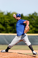 19 September 2012: Team France pitching coach Eric Gagne pitches against Palm Beach State College during Team France friendly game against Palm Beach State College, during the 2012 World Baseball Classic Qualifier round, in Lake Worth, Florida, USA.