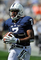 20 September 2014:  Penn State WR Eugene Geno Lewis (7). The Penn State Nittany Lions defeated the University of Massachusetts Minutemen 48-7 at Beaver Stadium in State College, PA.