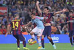01.11.2014 Barcelona, Spain. La Liga day 10. Picture show Orellana in action during game between FC Barcelona against Celta de Vigo at Camp Nou