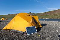 Tent camp along the Utukok river, National Petroleum Reserve Alaska, Arctic, Alaska.
