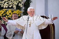 Pope Benedict XVI  during his Angelus prayer in Bressanone, northern Italy,..Aug. 03, 2008..