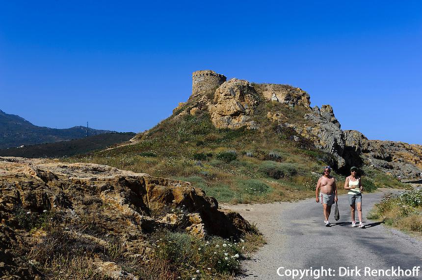 Genuesenturm auf der Halbinsel L'Ile Rousse, Korsika, Frankreich