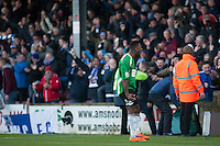 Daniel Nti (Worcester)<br />  - Scunthorpe United vs Worcester City - FA Challenge Cup 2nd Round Football at Glanford Park, Scunthorpe - 07/12/14 - MANDATORY CREDIT: Mark Hodsman/TGSPHOTO - Self billing applies where appropriate - contact@tgsphoto.co.uk - NO UNPAID USE