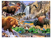 Howard, REALISTIC ANIMALS, REALISTISCHE TIERE, ANIMALES REALISTICOS, paintings+++++Yellowstone poster,GBHRPROV145,#A# ,puzzles