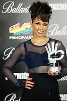 Alicia Keys attends 40 Principales awards photocall of winners  2012 at Palacio de los Deportes in Madrid, Spain. January 25, 2013. (ALTERPHOTOS/Caro Marin) /NortePhoto