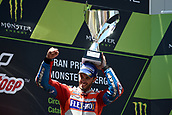 June 11th 2017, Barcelona Circuit, Montmelo, Catalunya, Spain; MotoGP Grand Prix of Catalunya, Race Day; Andrea Dovizioso (Ducati) celebrates his race win