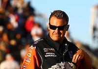 Jul. 26, 2013; Sonoma, CA, USA: NHRA crew member for funny car driver Johnny Gray during qualifying for the Sonoma Nationals at Sonoma Raceway. Mandatory Credit: Mark J. Rebilas-