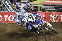01/22/11 Los Angeles, CA: James Stewart during the 1st ever AMA Supercross held at Dodger Stadium.