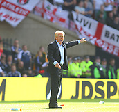 June 10th 2017, Hampden park, Glasgow, Scotland; World Cup 2018 Qualifying football, Scotland versus England; Gordon Strachan gives orders to the team