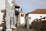 Historic buildings in traditional street village of Betancuria, Fuerteventura, Canary Islands, Spain