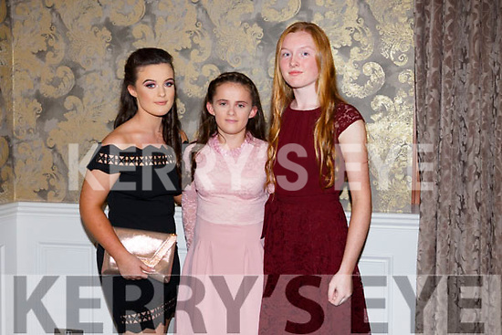 Aoilbhe Magan, Melanie Dineen Higgins,  Aoife O Flaherty at the Kerry Ladies Gaelic Football Association Awards in The Rose Hotel on Saturday night.