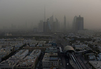 Dubai skyline and transit system during a sand storm. Much has changed since my first visit, notably the completion of the Burj Khalifa and the transit system, along with pretty much everything else that was still only half-built in 2008.