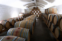 Barrel cellar. Domaine Henry Pelle, Menetou Salon, Loire, France