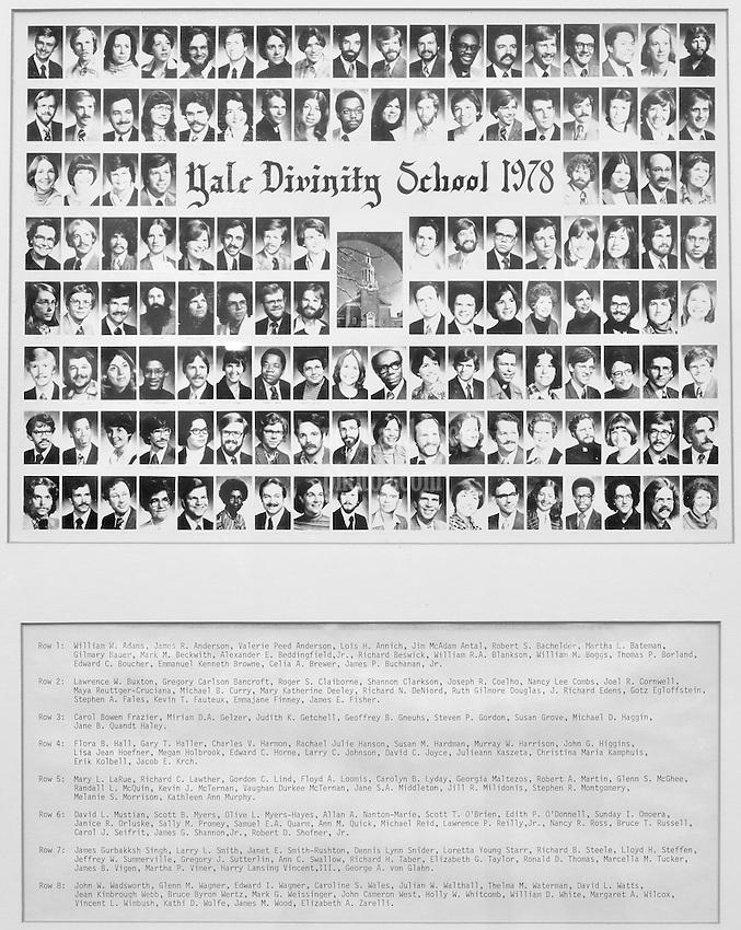 1978 Yale Divinity School Senior Portrait Class Group Photograph