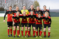 20171125 - TUBIZE , BELGIUM : Belgian team pictured with Aline Zeler (10) , Maud Coutereels , Diede Lemey , Tine De Caigny , Laura De Neve , Silke Vanwynsberghe , Sarah Wijnants , Janice Cayman , Elke Van Gorp , Lola Wajnblum and Charlotte Tison  during the friendly female soccer game between the Belgian Red Flames and Russia , Saturday 25 th November 2017 at the Belgian FA Euro 2000 Center in Tubize , Belgium. PHOTO SPORTPIX.BE | DAVID CATRY