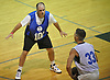 Bobby Fanning, 52, of Huntington Station, left, guards Pavel Ponomarev during a Long Island Nets open tryout at LIU Post's Pratt Center in Brookville, NY on Saturday, Sept. 30, 2017.