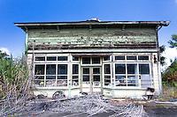 Old abandoned building in Kukuihaele, Big Island, Hawaii