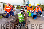 Kerry County Council workers laying new pipes in the Road of Works road in Beaufort on Tuesday l-r: Dermot O'Sullivan Site Foreman, Freddie Bartlett County Supervisor, Con Looney, Denis O'Leary and Peter Courtney