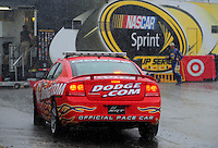 May 31, 2008; Dover, DE, USA; A Nascar Sprint Cup Series pace car sits in the garage during a rain delay in practice for the Best Buy 400 at the Dover International Speedway. Mandatory Credit: Mark J. Rebilas-US PRESSWIRE