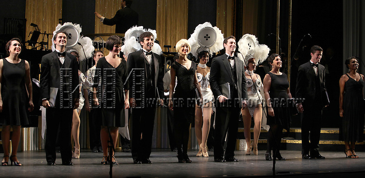 Ensemble.during the final performance Curtain Call for the New York City Center ENCORES! Production of 'Gentlemen Prefers Blondes' at City Center in New York City on 5/13/2012.