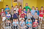 Young Castleisland AFC soccer players who received their u9 league medals in Castleisland Community Centre on Wednesday front row l-r: Jamie Heffernan, Chris McGaley, Daniel Costello, Brian Daly, Cathal Shire. Middle row: Dan Geaney, Johnny Costello, Greig Curran, Jason Horan, Daniel Kelly. Back row: PJ Curran, Donal Geaney, Kevin Keane, Johnaton Healy, Luke Walsh, Oisin Nolan, Georgie Callaghan, Mark Hickey, Darren O'Donoghue, PJ Curtin and Gary O'Sullivan