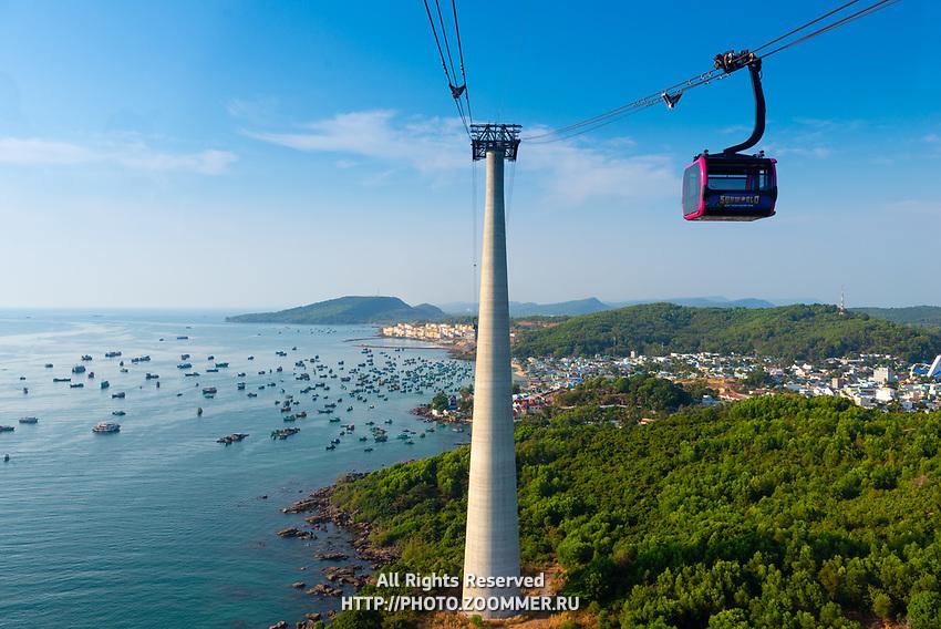 Cabel Car Mast And Gondola, Phu Quoc island, Vietnam