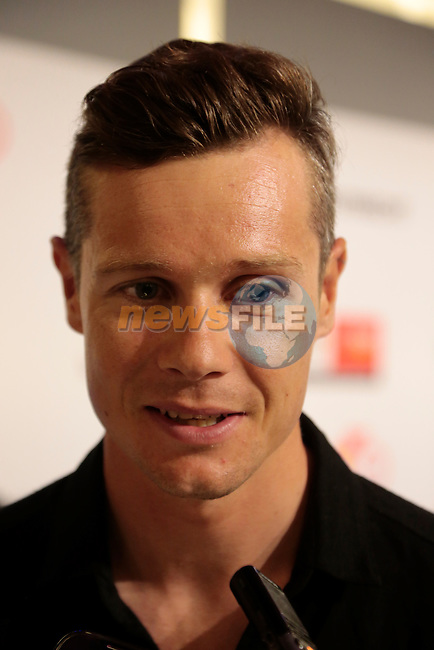 Nicolas Roche (IRL) Team Sky press conference before the start of the 2015 Tour de France in Utrecht, Netherlands. 3rd July 2015.<br /> Photo: Eoin Clarke www.newsfile.ie